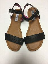 "c38f3a51eba2a NWOB Girls Steve Madden ""Millie"" Black Sandals Size 13"