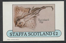 GB Locals - Staffa 3515 - 1982  FISH imperf deluxe sheet unmounted mint