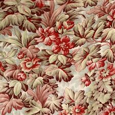 French Floral Cretonne Fabric Antique material for upholstery , curtains pillows