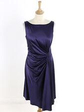 Karen Millen para Mujer Vestido Plisado de Satén Púrpura DF018 Talla 12