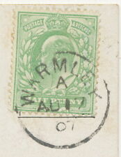 """2450 """"WARMLEY"""" (BRISTOL) superb extremely rare Thimble (21 mm) on superb pc 1907"""