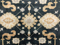 10x14 HAND KNOTTED WOOL RUG ORIENTAL blue handmade oriental handwoven new carpet