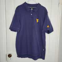 Vintage Starter WVU West Virginia Mountaineers Embroidered Polo Shirt Mens Large
