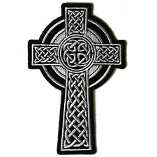 Embroidered Celtic Cross Sew or Iron on Patch Biker Patch