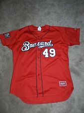 Defunct 2016 Brevard County Manatees Game Used Jersey David Chavarria Brewers