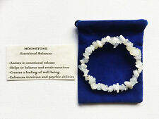 Moonstone Bracelet Gemstone Crystal Chip Beads Stretch 'BUY 3 GET 1 FREE'