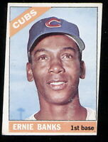 This is Ernie Banks of the Cubs on a 1966 O-Pee-Chee baseball card #110  VG
