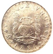 1754-MO MF Mexico Pillar Dollar 8 Reales Coin (8R, KM-104.1) - NGC MS61 (UNC BU)