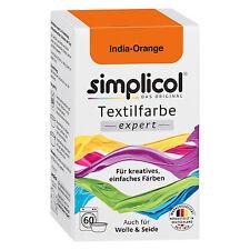 SIMPLICOL Textilfarbe EXPERT INDIA ORANGE 150g Farbe auch für Wolle & Seide