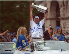 Brett Hull Autographed St Louis Blues 8x10 Photo - BAS COA (Stanley Cup)