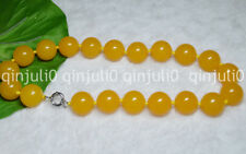 """Huge 20MM Natural South America Topaz Yellow Gems Ball Beads Necklaces 18"""" JN631"""