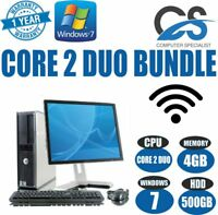 Dell WINDOWS 7 COMPLETE COMPUTER DESKTOP PC CORE 2 DUO @ 3.00GHz & 4GB RAM