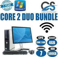 Dell Windows 7 Kompletter Komputer Desktop-Pc Core 2 Duo @ 3.00GHz & 4GB Ram