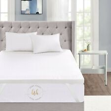 """Home Sweet Home 3"""" Inch Memory Foam Mattress Topper With Removable Bamboo Cover"""