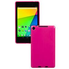 Premium Hot Pink TPU Flexible Case Cover Skin - New Google Nexus 7 II 2nd. 2013