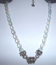 Kirks Folly Crystal Desire Magnetic Bead Necklace-Interchangeable-Silvertone