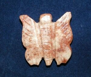 Soapstone hand carved animal Peru , gem stone - butterfly