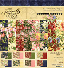 Graphic45 FLORAL SHOPPE 8x8 PAPER PAD scrapbooking (24) SHEETS (8) DESIGNS