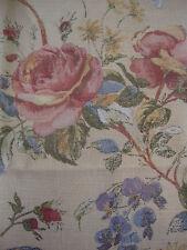 250cm SANDERSON Rosetta vintage linen upholstery fabric remnant