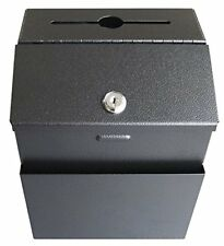 Heavy Duty Mail & Suggestion Boxes 18 Gauge Steel Locking Black