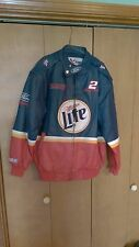 NASCAR WINSTON CUP SERIES Rusty Wallace Miller Lite Leather Jacket Coat size L