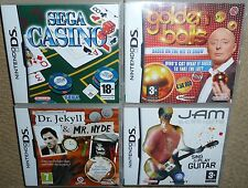 JOB LOT 4 x NINTENDO DS DSI GAMES Golden Balls Dr Jekyll Mr Hyde Sega Casino Jam