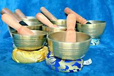 7 Chakra & Om Mani Padme Hum Itched 7 Handmade Singing Bowls' Set, Nepal Made