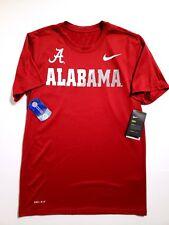 Nike Dry Sideline Alabama Crimson Tide Dri-Fit Anti Odor T-Shirt Mens Size Small