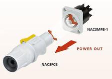 POWERCON Enchufe + Toma empotrable Gris Neutrik NAC3FCB+NAC3MPB CADA 1 pza NUEVO