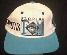 Vintage Florida Marlins snap back baseball hat/cap by The Game