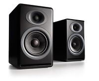 Audioengine P4 Passive Bookshelf Speakers - Matte Black (Pair) with Warranty