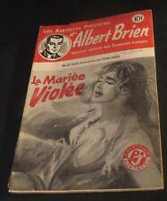 1940s ADVENTURES POLICIER ALBERT BRIEN DETECTIVE SEX MURDER FRENCH  PULP #522