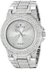 Croton Balliamo Men's Quartz Crystal Accents Silver-Tone 44mm Watch CN307538RHPV