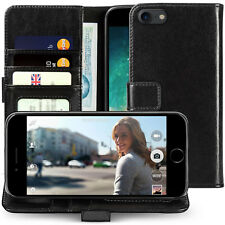 Apple iPhone 7 / 8 Case Genuine Real Leather Cash, Card & ID Wallet Folio Cover