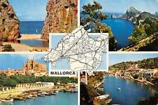 Spain Mallorca Map, Cathedral Dom Hafen Harbour Boats Panorama Beach