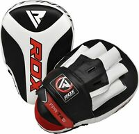 RDX Boxing Focus Mitts Curved Maya Hide Leather Hook and Jab Target Hand Pads