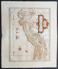 1639 Jansson Original Antique Map of Peru, South America - Pizzario