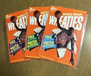 3 Vintage 1989 Wheaties Michael Jordan Foldout Posters 3 in 1 large wall