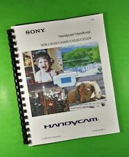 """Sony CX500 CX500V Digital HDR Camera 130 Page Laser 8.5X11"""" Owners Manual Guide"""