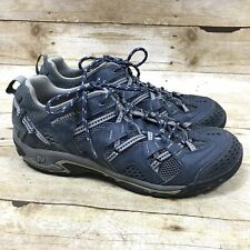 Merrell Waterpro Sport Shoes Mens Size 10 Blue  Grey Lace Up Hiking Sneakers