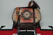Ralph Lauren RRL Leather & Indian Wool Blanket Messenger Bag