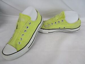 CONVERSE All Star Chuck Taylor Low Top Slip-On Trainers, Yellow, UK 6, Eur 39