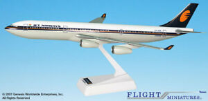 Flight Miniatures Jet Airways Airbus A340-300 1:200 Scale Display Model New