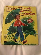 Vintage Little Black Sambo 1953 Whitman Tell A Tale Book
