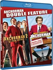 ANCHORMAN DOUBLE FEATURE BLU RAY LEGEND OF RON BURGUNDY  WILL FERRELL