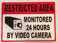 "Security Notice Parking Monitored Video Camera Aluminum Sign 9""X12"""