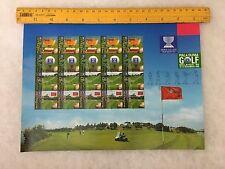 (JC) World Cup Golf  -  1999 stamps sheetlet MNH 20V