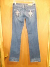 """SANG REAL """"ONLY THE CHOSEN"""" DISTRESSED WOMEN DENIM JEANS SIZE 27 INSEAM 33"""""""