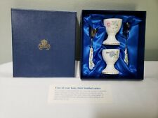 AYNSLEY BONE CHINA WILD TUDOR EGG CUP & SPOON BOXED SET
