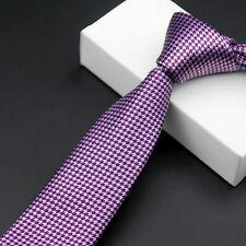 Men Classic Houndstooth Skinny Necktie Party Wedding Business Tie New Arrival